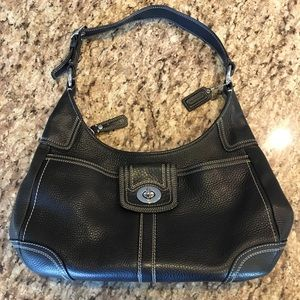Coach Hamilton Hobo Pebbled Leather Handbag